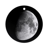 Gibbous Moon Ornament (Round)