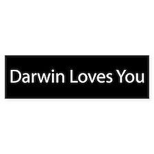 Darwin Loves You Bumper Car Sticker