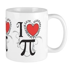 I Heart Pi Mug Mugs