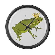 Frog Royalty Large Wall Clock