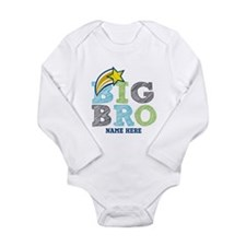 Star Big Bro Long Sleeve Infant Bodysuit
