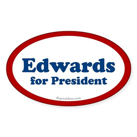 Edwards for President Oval Sticker