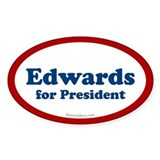 Edwards for President Oval Decal