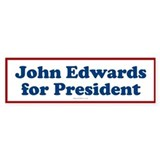 John Edwards for President Bumper Bumper Sticker