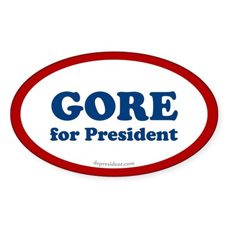 Gore for President Oval Sticker