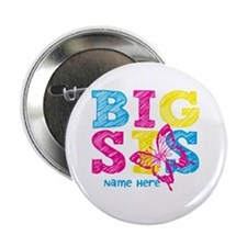 """Butterfly Big Sis 2.25"""" Button (10 pack)"""