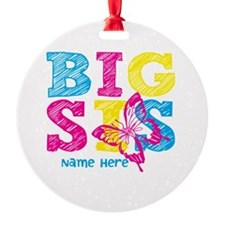 Butterfly Big Sis Round Ornament