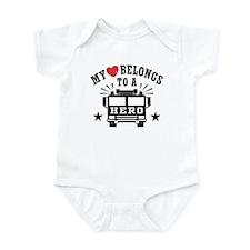 My Heart Belongs to a Hero Infant Bodysuit