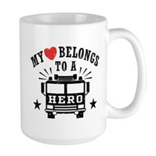 My Heart Belongs to a Hero Mug