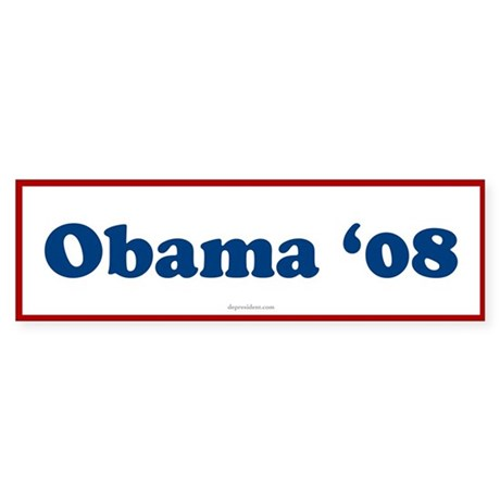 Obama 08 Bumper Sticker