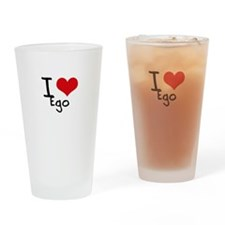 I love Ego Drinking Glass