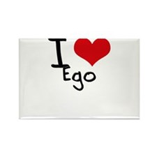 I love Ego Rectangle Magnet