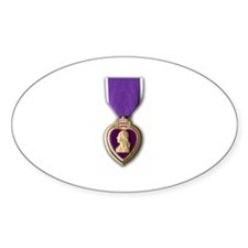 Purple Heart Oval Decal