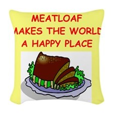 MEATLOAF.png Woven Throw Pillow