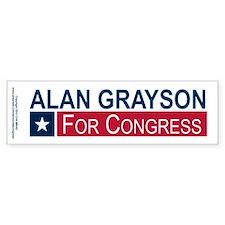 Elect Alan Grayson Bumper Sticker