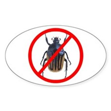 No Bugs - Oval Decal