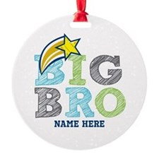 Star Big Bro Round Ornament