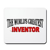 """The World's Greatest Inventor"" Mousepad"