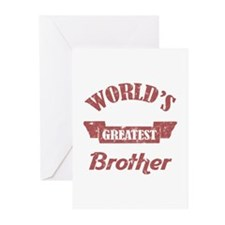 World's Greatest Brother Greeting Cards (Pk of 20)