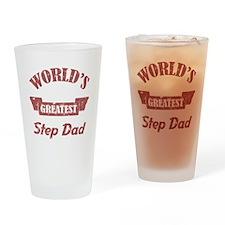 World's Greatest Step Dad Drinking Glass