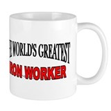 """The World's Greatest Iron Worker"" Small Mug"