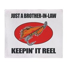 Brother-In-Law Fishing Humor Throw Blanket