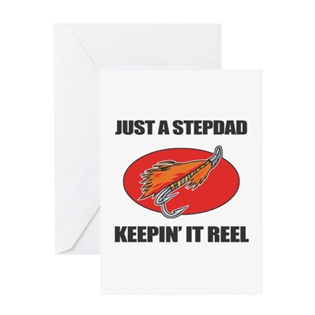 Stepdad Fishing Humor Greeting Card