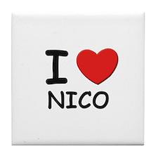 I love Nico Tile Coaster