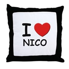 I love Nico Throw Pillow