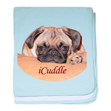 Adorable iCuddle Pug Puppy baby blanket
