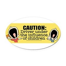 Cute Influences Oval Car Magnet