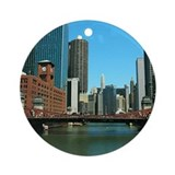 Chicago Waterfront Ornament (Round)