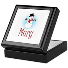 Snowman - Mary Keepsake Box