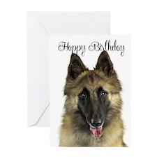 Belgian Tervuren Birthday Card