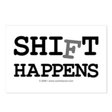 shift happens... Postcards (Package of 8)
