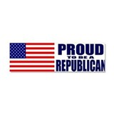 Cute Republican Car Magnet 10 x 3