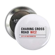 "Charing Cross Road, London - UK 2.25"" Button (10 p"