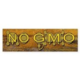 No GMO Crop Circle on a Van Gogh Bumper Bumper Stickers