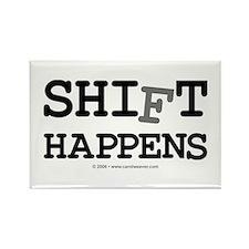shift happens... Rectangle Magnet (100 pack)