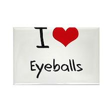 I love Eyeballs Rectangle Magnet