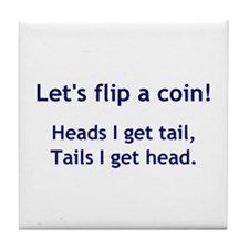 Coin Toss Tile Coaster