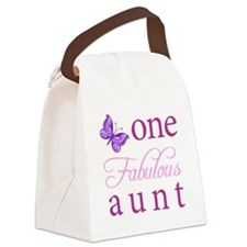 One Fabulous Aunt Canvas Lunch Bag