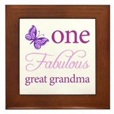 One Fabulous Great Grandma Framed Tile