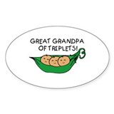 Great Grandpa of Triplets Oval Decal