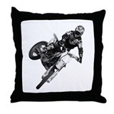 Dirt bike High Flying Throw Pillow
