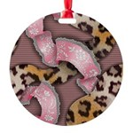 Leopards and Lace - Pink Ornament