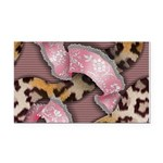Leopards and Lace - Pink Rectangle Car Magnet
