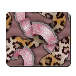 Leopards and Lace - Pink Mousepad