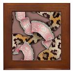 Leopards and Lace - Pink Framed Tile