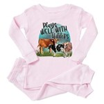Leopards and Lace - Pink Kid's All Over Print T-Sh